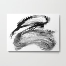 I wash my brush to get grey Metal Print