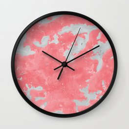pink marble pattern Wall Clock