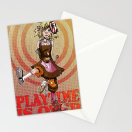 Playtime is Over Stationery Cards