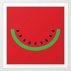 Minimal Melon Art Print