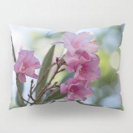 pink oleander in the garden Pillow Sham