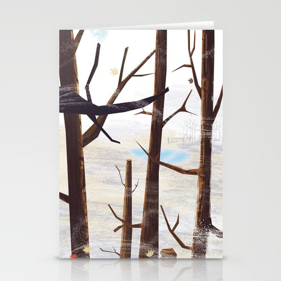 trees tops Stationery Cards