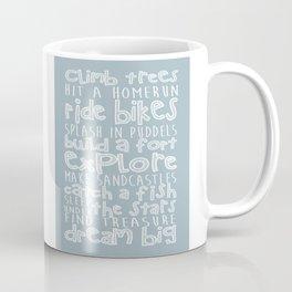"Custom Carved Wooden Sign - ""Climb Trees Coffee Mug"