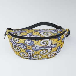Ornament on tile drawing Fanny Pack