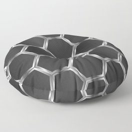 Gray and silver octagon pattern Floor Pillow