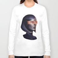 mass effect Long Sleeve T-shirts featuring Mass Effect: EDI by Ruthie Hammerschlag