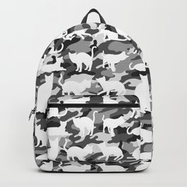 Black and White Catmouflage Camouflage Backpack