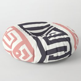 African Tribal Pattern No. 30 Floor Pillow
