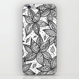 Dancing flowers iPhone Skin