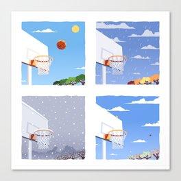 Seasons With basketball Canvas Print