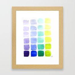 Squared Gradients Framed Art Print