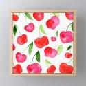 Watercolor cherries - red and green by wackapacka