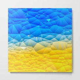 Sunshine and Blue Sky Quilted Abstract Metal Print