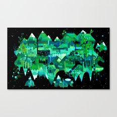 Order of Nature - geometric acrylic landscape painting Canvas Print