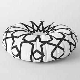 Islamic Geometric Line Art Floor Pillow