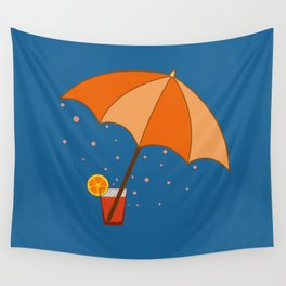 big cocktail umbrella Wall Tapestry
