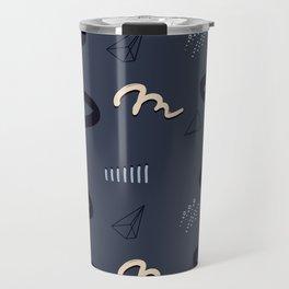 Navy splash Travel Mug