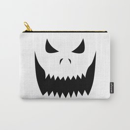 Scary Jack O'Lantern Face Carry-All Pouch