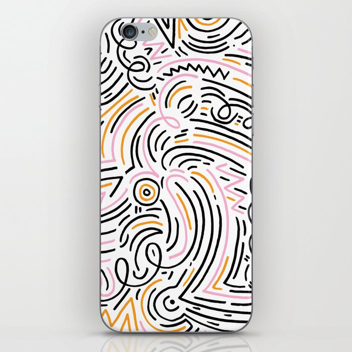 squiggle wiggles iPhone Skin