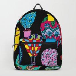Hot Air Balloons Black Backpack