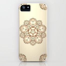 Beige elegant ornament fretwork Baroque style iPhone Case