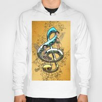 decorative Hoodies featuring Decorative clef  by nicky2342