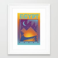 egypt Framed Art Prints featuring Egypt by David Chestnutt