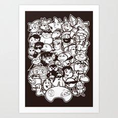 Mega 16 Bit Art Print