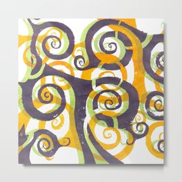 Swirls on Swirls Metal Print