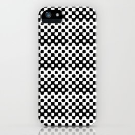Checkered Beauty- black and white small check polka dots iPhone Case