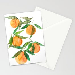 oranges watercolor Stationery Cards