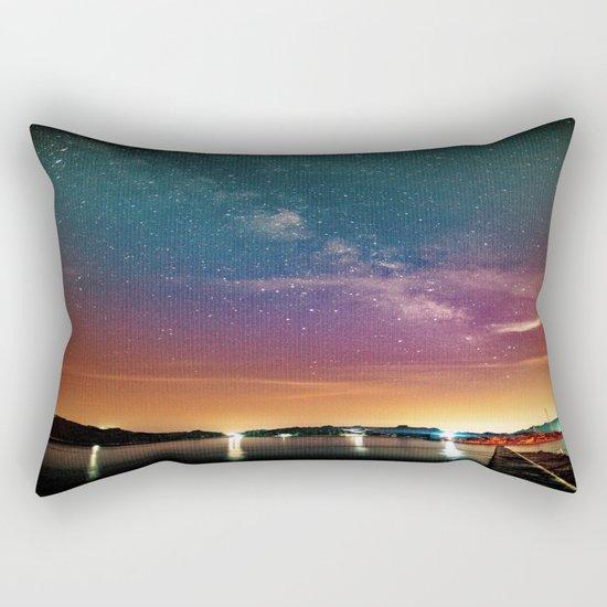 Milky Way over Water Rectangular Pillow