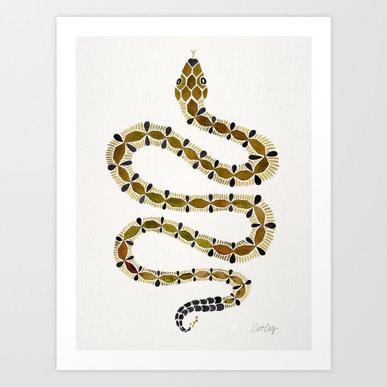 Olive Serpent Art Print