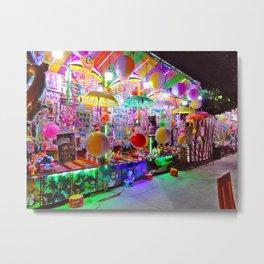 Night Carnival in Mexico Metal Print