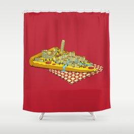 Hungry for Travels: Slice of Italy Shower Curtain