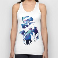 dead space Tank Tops featuring Dead Space: Splatter Isaac by Fiona Ng