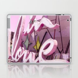 "Pink ""In Love"" Sign at the Neon Museum in Las Vegas, Nevada Laptop & iPad Skin"