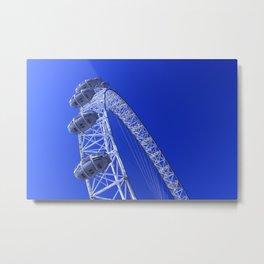 The London Eye by the River Thames Metal Print