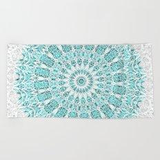 A Glittering Mandala  Beach Towel