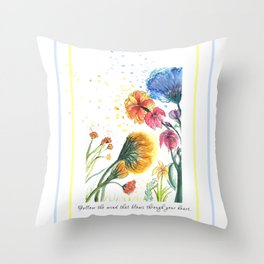 Direction of The Wind - Watercolor Painting Throw Pillow