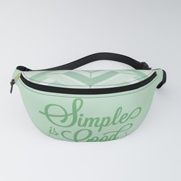 Mid Century Simplicity Soft Green Fanny Pack