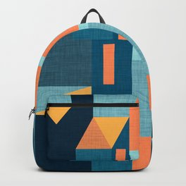 Yellow Klee houses Backpack