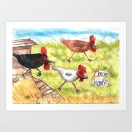 Chooks House Art Print