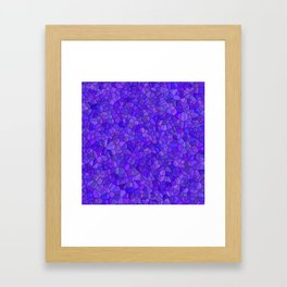 Sapphires and Amethysts Framed Art Print