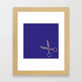 scissors / tijeras Framed Art Print