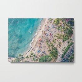 Waikiki Beach Metal Print