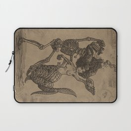 Dancing Mermaid and Skeleton Laptop Sleeve