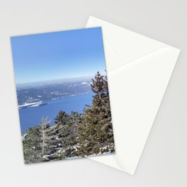 Winter at Lake George Stationery Cards