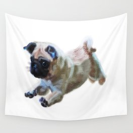 Pug in chalk  Wall Tapestry
