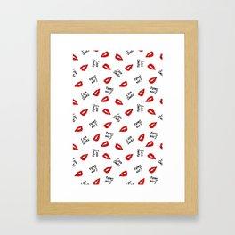 love sucks valentines vampire Framed Art Print
